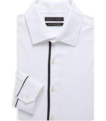 saks fifth avenue men's slim-fit dress shirt - white - size 17.5 36-37