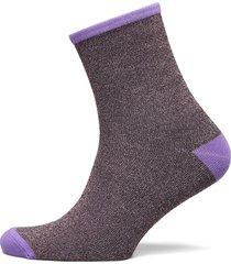 dina solid coll. lingerie hosiery socks lila becksöndergaard