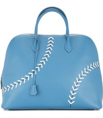 hermès pre-owned sac bolide baseball tote - blue
