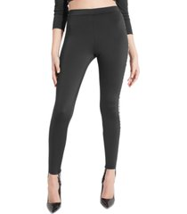 guess chloe logo tape stirrup leggings
