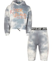 river island girls grey ri active tie dye hoodie outfit