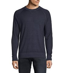 raglan-sleeve merino wool sweater