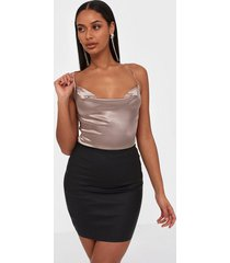 parisian satin cowl neck tie back body bodys
