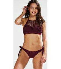 hunkemöller djärv låg borneo-bikiniunderdel i mesh lila