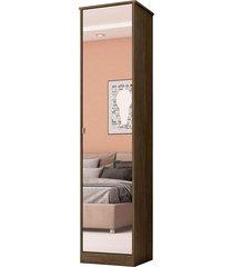 armário multiuso 1 porta reflex ébano touch demobile