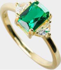 ayana cushion cut ring in emerald - emerald