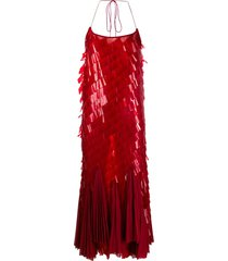 atu body couture paillette-embellished cocktail dress - red