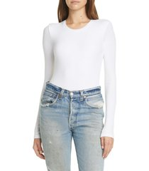 women's atm anthony thomas melillo ribbed bodysuit, size large - white