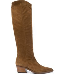 paul warmer suede knee-length boots - brown