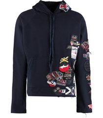 greg lauren embroidered patches hoodie