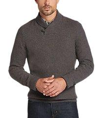 joseph abboud navy button shawl sweater