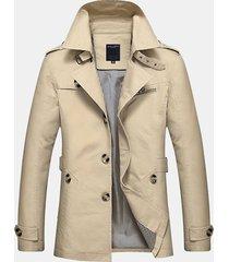 uomo giacca in cotone con colletto bavero di stile casual business e trench