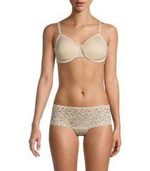 wacoal women's classic reinvention solid-colored bra - sand - size 32 dd