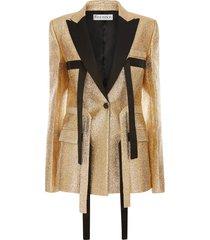 jw anderson strap-detail tailored blazer - gold