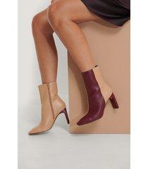 na-kd shoes boots med fyrkantig tå - multicolor