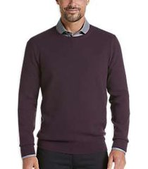 joe joseph abboud burgundy slim fit crew neck sweater