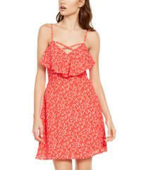 trixxi juniors' ruffled popover dress