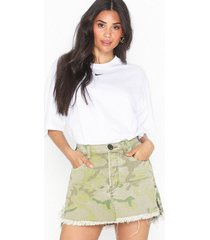 one teaspoon safari camo relaxed denim skirt minikjolar
