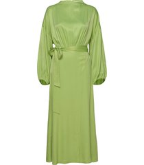 indio maxi dress galajurk groen rodebjer