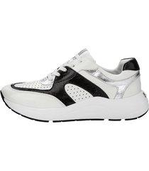 sneakers caprice vit::silverfärgad::svart