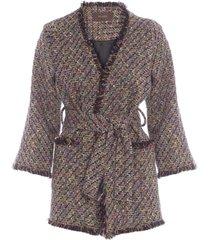 casaco feminino boheme - preto