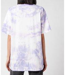 balmain women's oversized printed tie dye t-shirt - lavender/multi - l