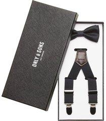 onsbowtie suspender pack accessories suspenders svart only & sons