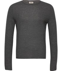 teiss cp long sleeved sweater feather cachemire stickad tröja m. rund krage grå zadig & voltaire