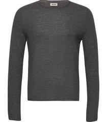 teiss cp long sleeved sweater feather cachemire stickad tröja m. rund krage grå zadig & voltaire