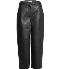aston pants leather leggings/broek zwart lovechild 1979