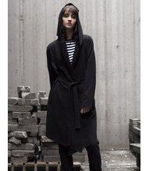 płaszcz division in black