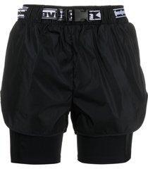 off-white active cargo shorts - black