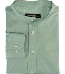 overhemd elverum uit biologisch katoen, mint 45/46