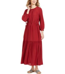 weekend max mara peasant maxi dress