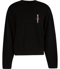 palm angels statement logo crewneck sweatshirt