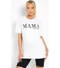zwangerschap mama est 2022 t-shirt, white