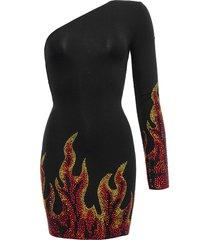 asymmetric flame dress