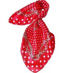 pañuelo bandana cadenas y lunares rojo viva felicia