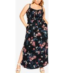 city chic plus size paradise maxi dress