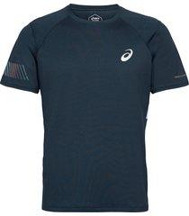 visibility ss top t-shirts short-sleeved blå asics
