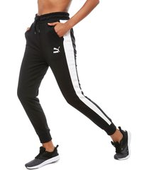 pantalón de buzo puma classics t7 track pant negro - calce regular