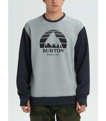 sweater burton men's oak crew hoodie