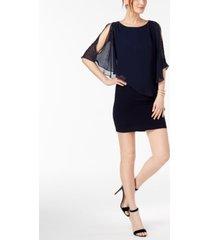 x by xscape petite capelet sheath dress