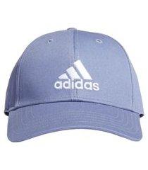boné adidas baseball logo h34474, cor: azul/branco, tamanho: único