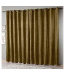 cortina cetim amassado 200x180cm casa d oro sultan 70gr/m2 caqui
