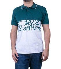 camiseta tipo polo verde puntazul