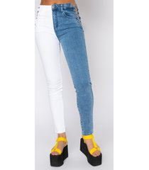 akira double face chain skinny jeans