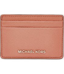 michael michael kors women's jet set card holder - sunset peach
