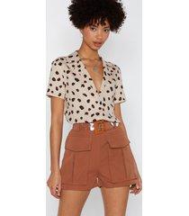 womens pocket in utility shorts - tan