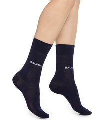 women's balenciaga classic logo cotton blend socks